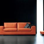 free-divano-arancione-due-posti-pelle