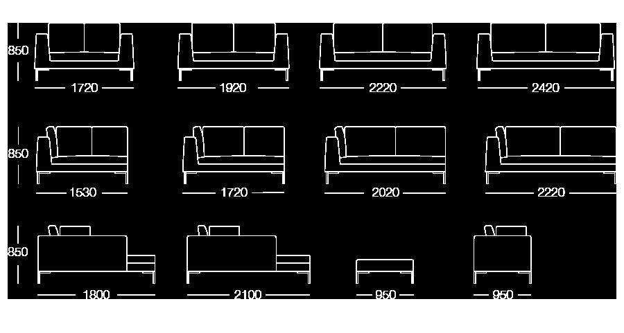 flip divano urban misure